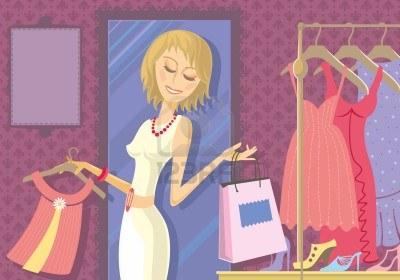 13153675-illustration-d-39-une-femme-d-39-acheter-des-vetements-en-magasin-les-robes-et-les-chaussures-dans-l