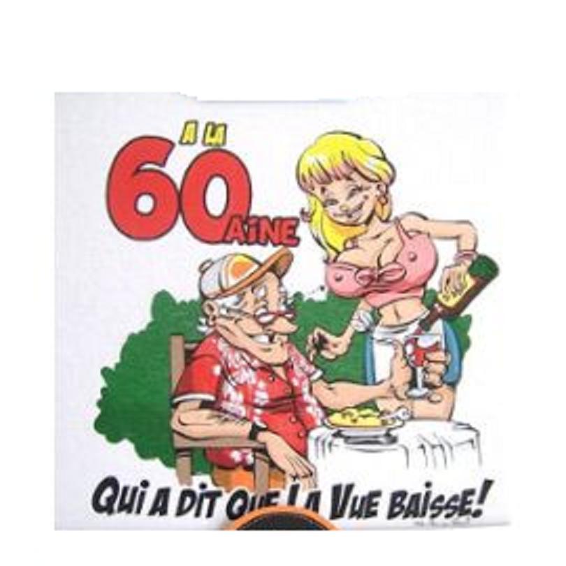 T Shirt Humoristique 60 Ans La Main Au Panier Pret A Porter