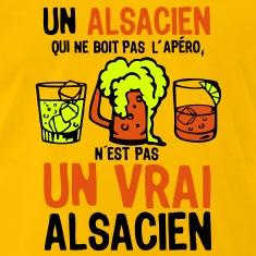 alsacien-apero-boit-pas-vrai-alcool-bier-Tee-shirts