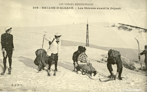 Ballon d'Alsace - Les Skieurs avant le Départ